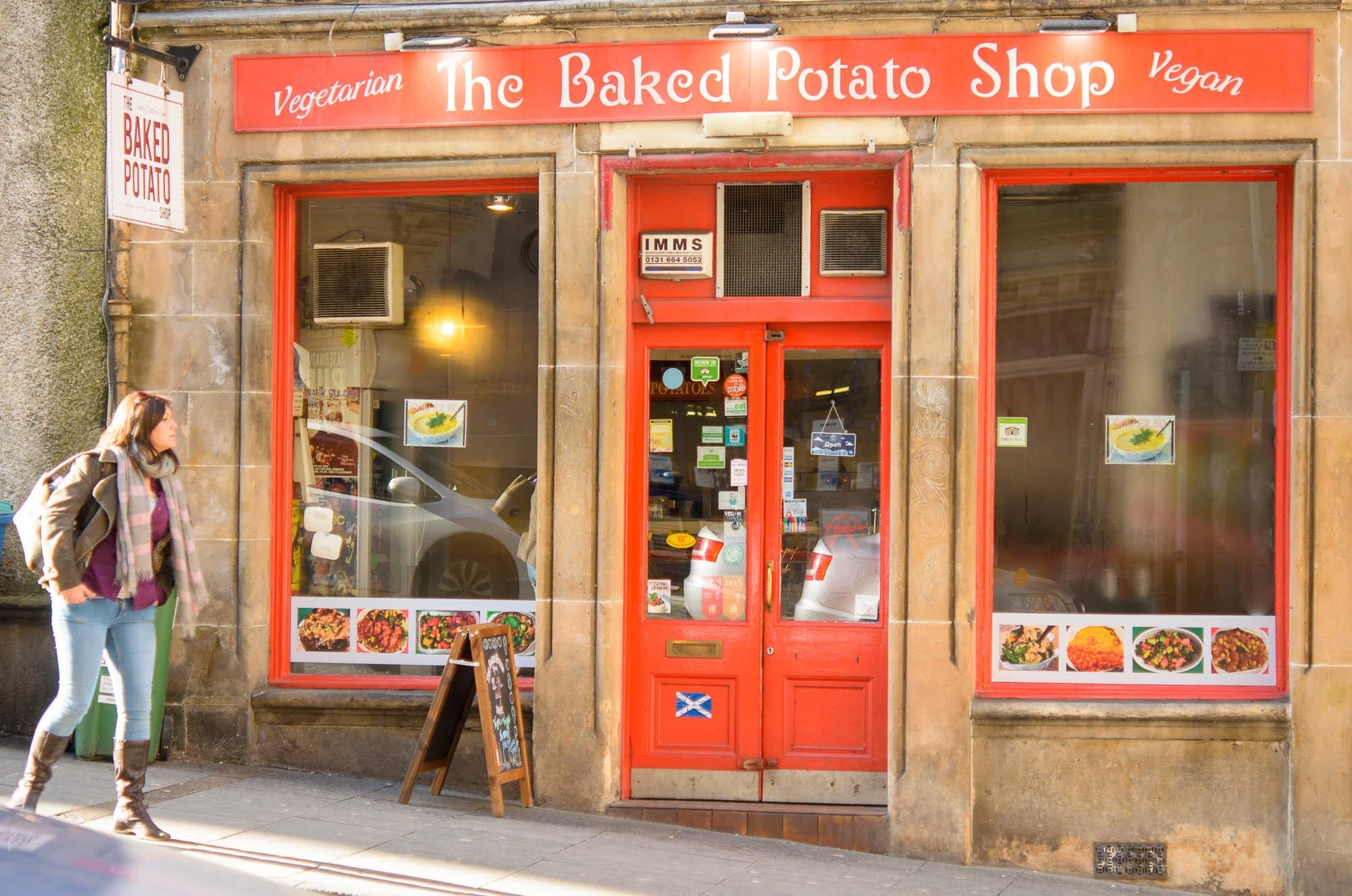 The outside of the Baked Potato Shop