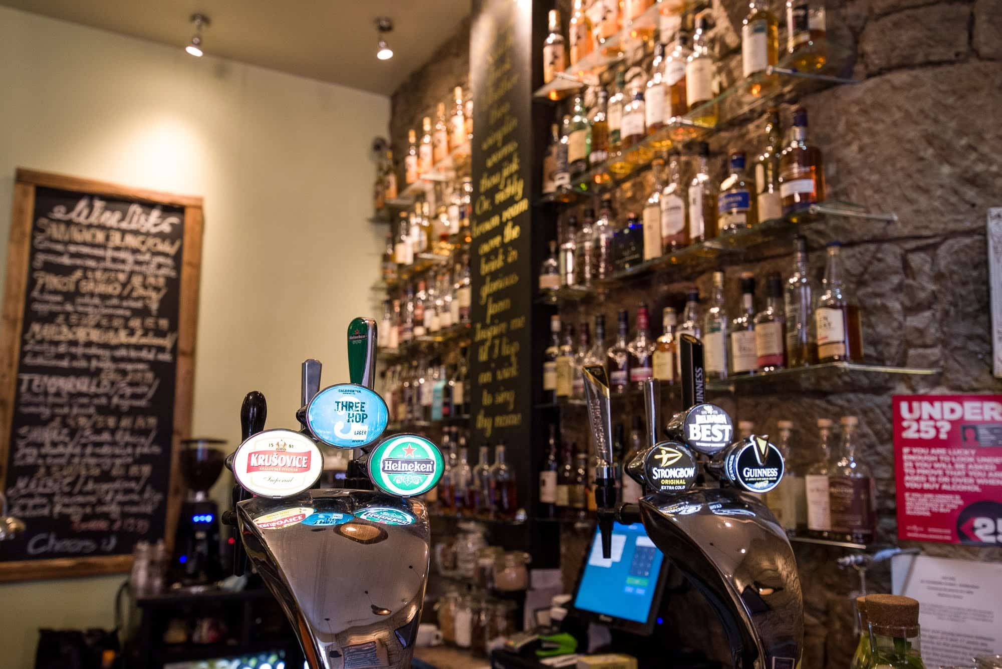 Beer on tap in the Arcade Haggis and Whisky House
