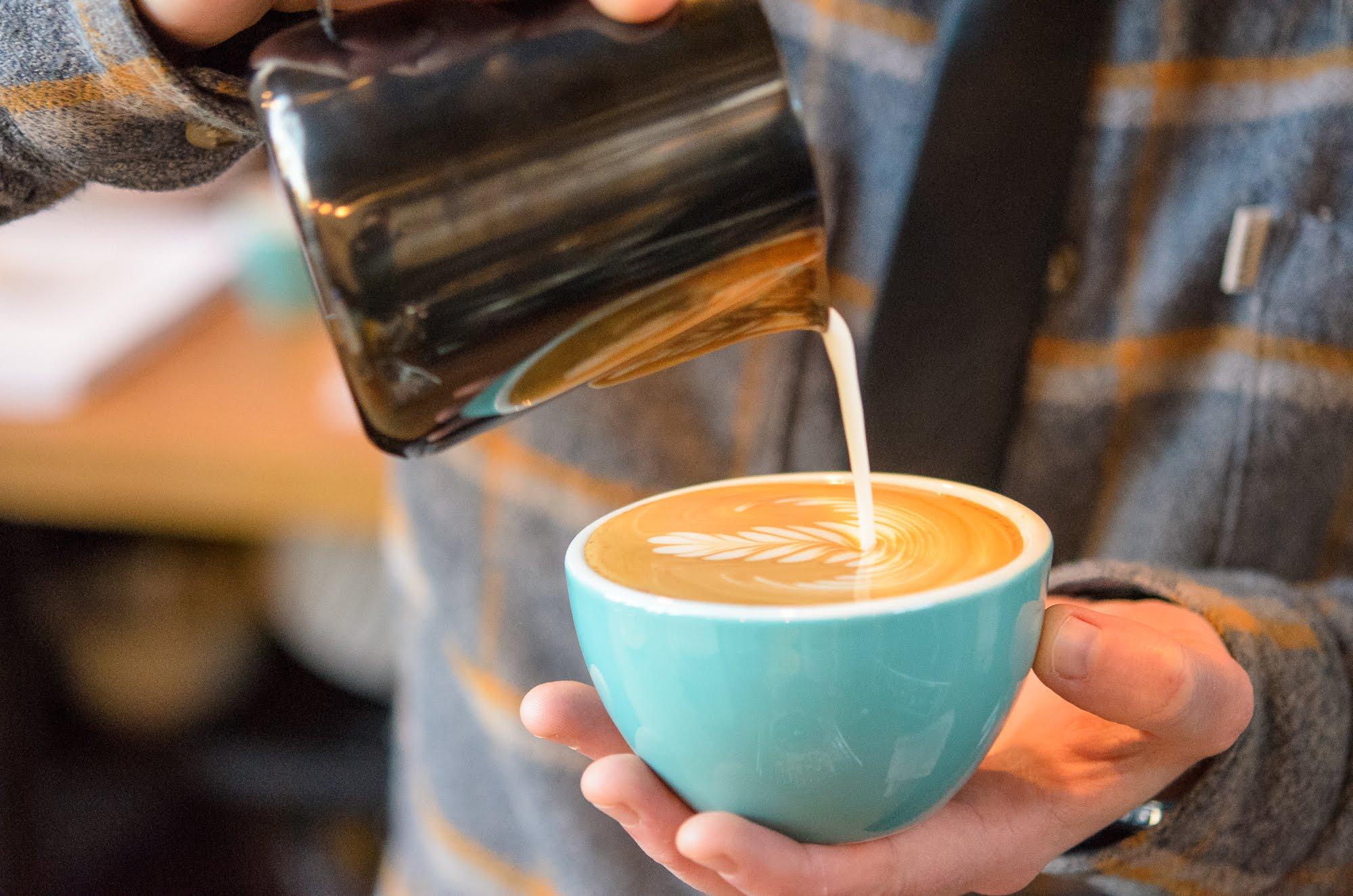 Latte art created in Baba Budan