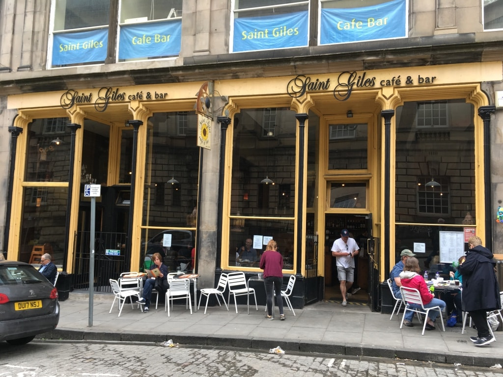 Saint Giles Cafe Bar is around the corner from the cathedral on St Giles' Street.