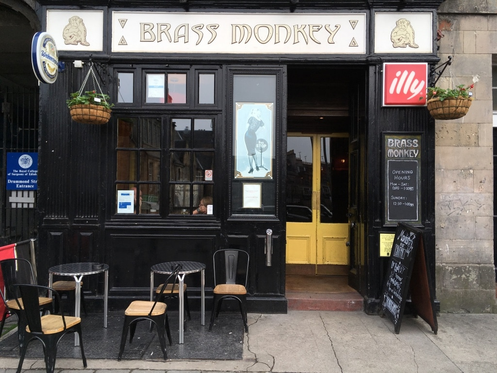 Brass Monkey on Drummond Street is casual, reasonably priced pub.