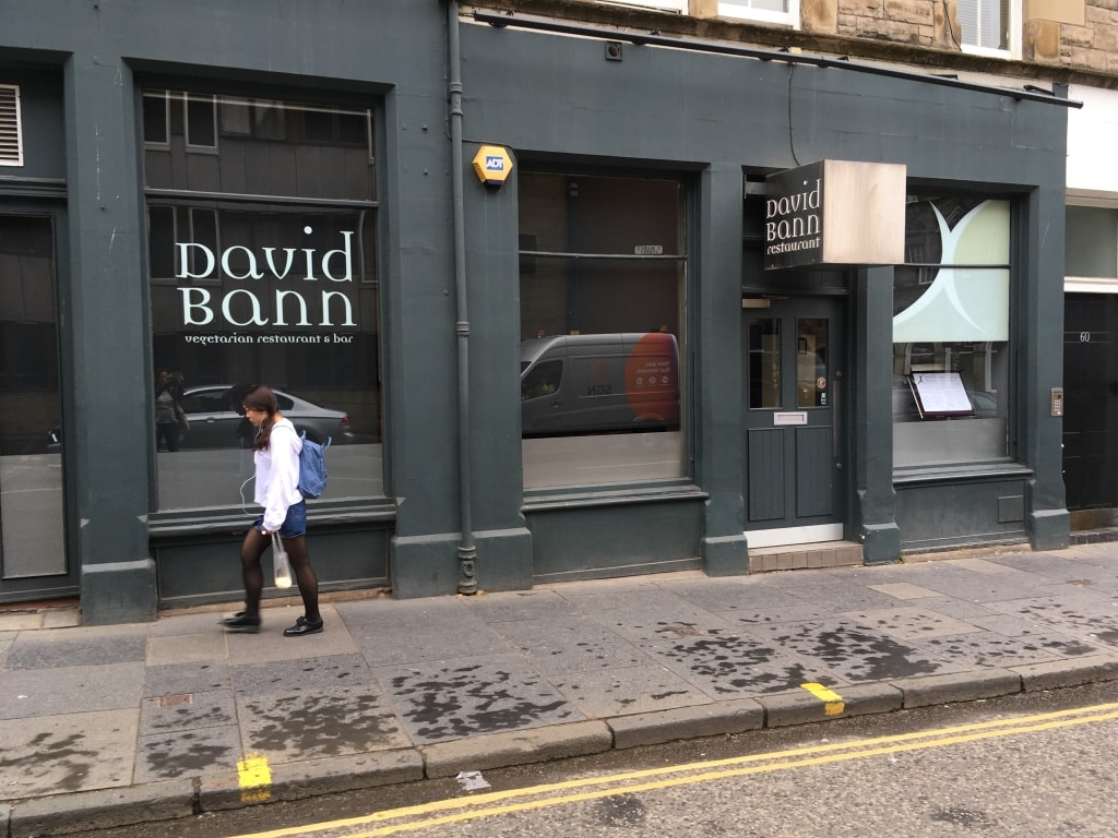 David Bann on St Mary's Street is Edinburgh's most well-known vegetarian restaurant.
