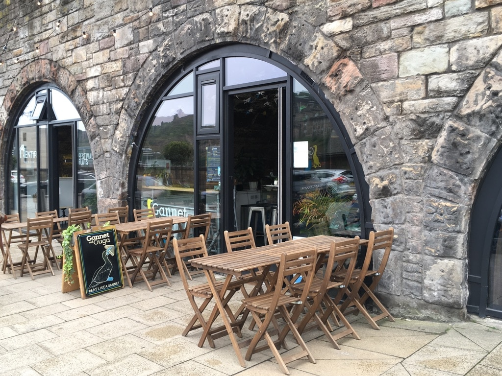A small cafe and sandwich bar, Gannet & Guga is located on East Market Street in The Arches.