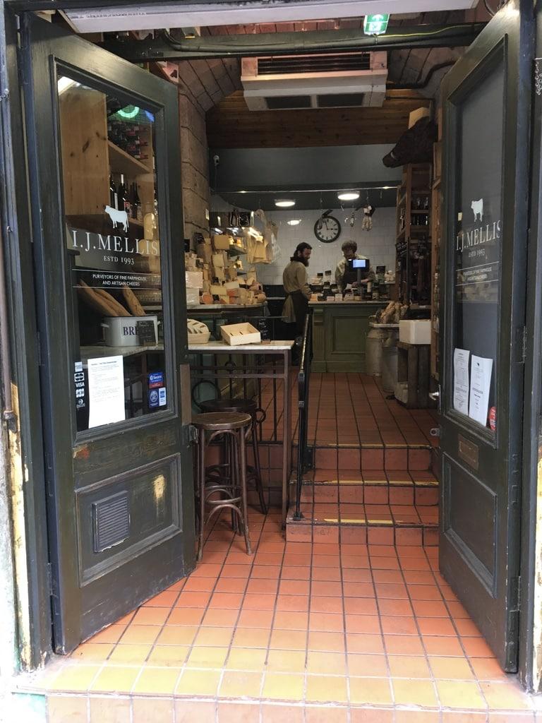 Artisan cheese shop I.J. Mellis on Victoria Street.
