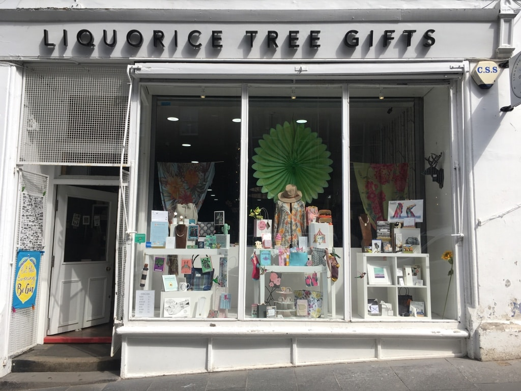 Liquorice Tree gift shop on Cockburn Street sells many gifts made in the UK.