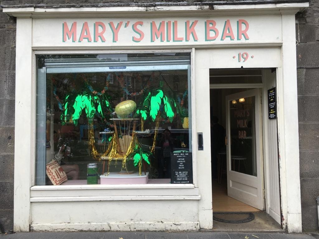 Mary's Milk Bar in the Grassmarket is a retro ice cream parlour.
