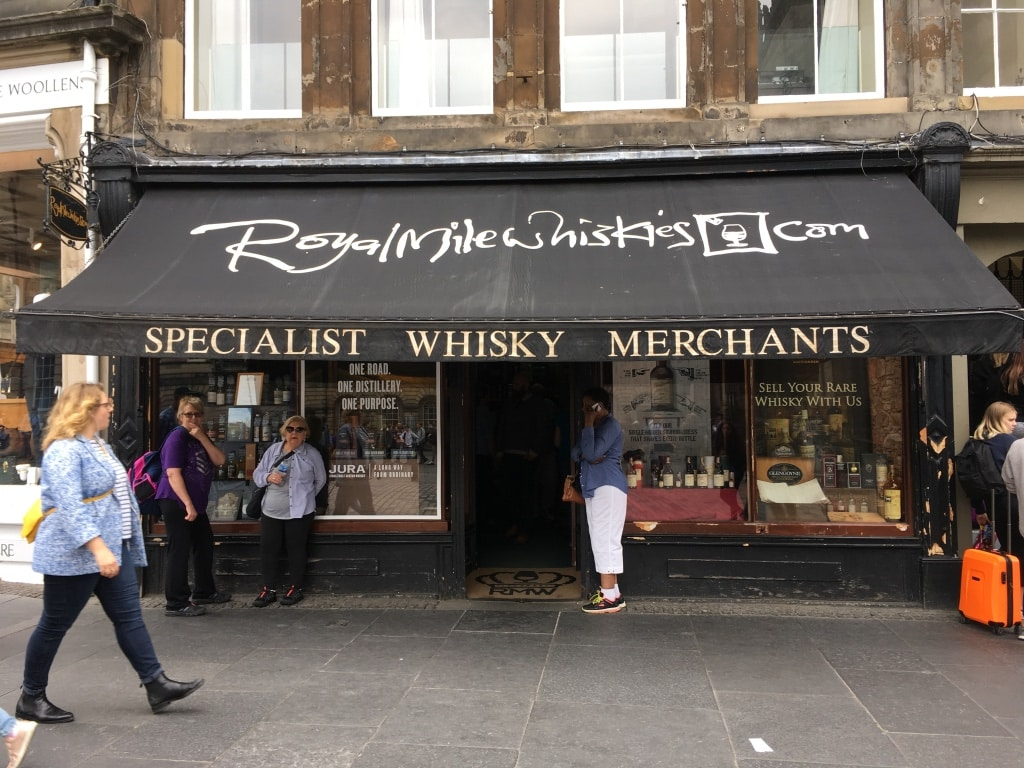 Fairly priced whisky and great advice at Royal Mile Whiskies.