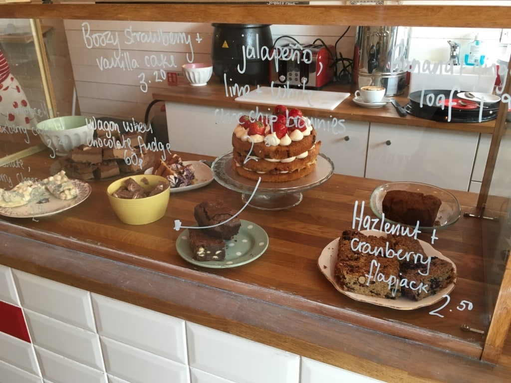 Tasty Buns Bakery's cake display