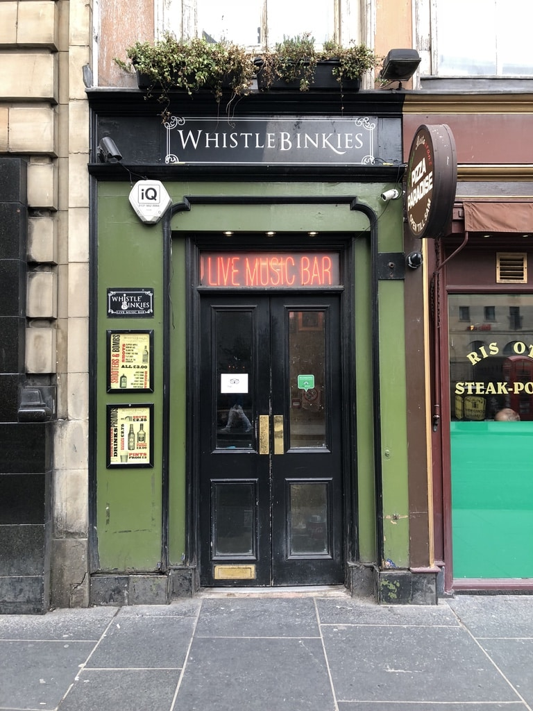 It's all about the life music at the Whistle Binkies bar on South Bridge.
