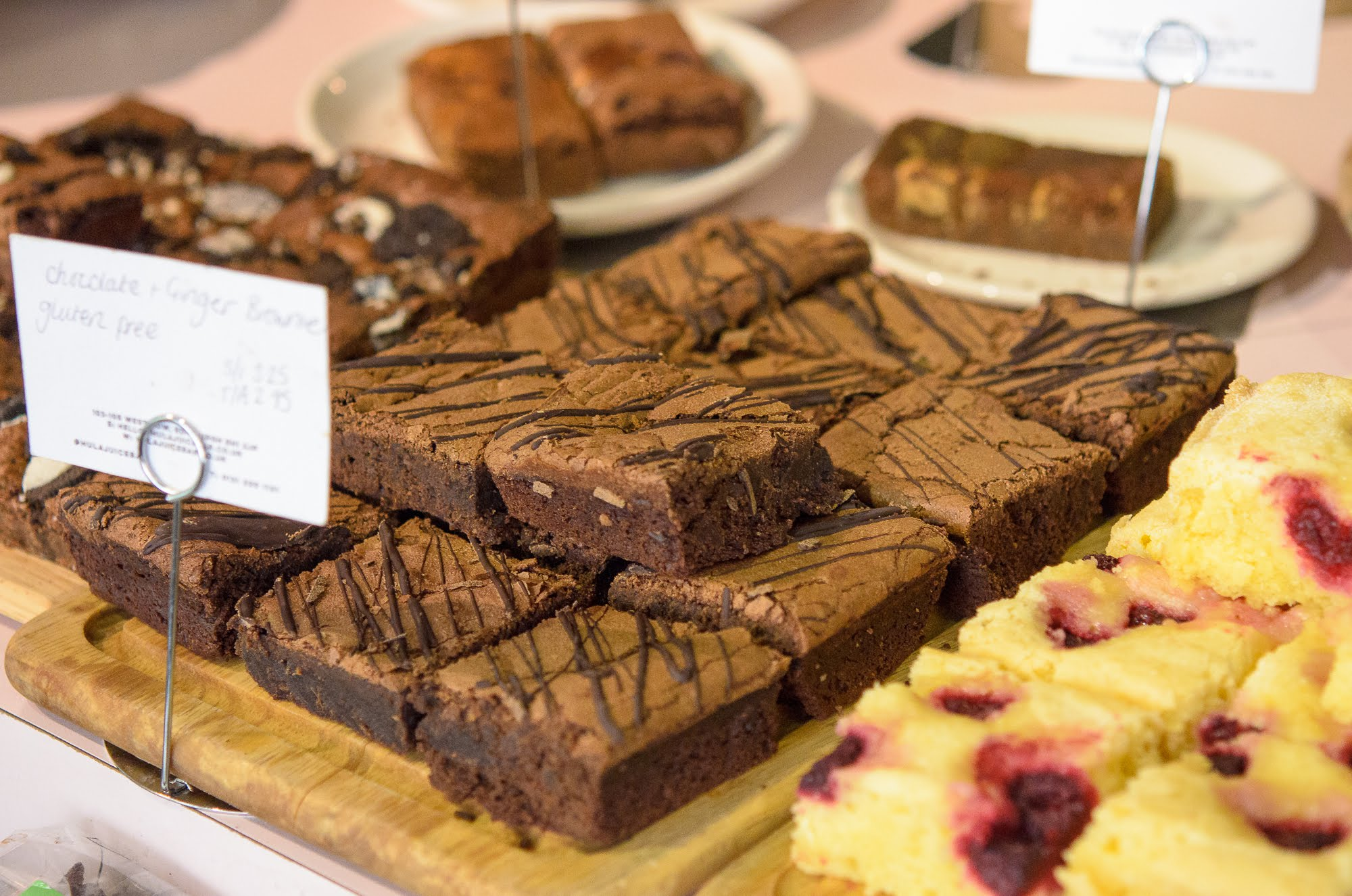 Hula Juice Cafe also have sweet treats for Gluten Free and Vegan diets