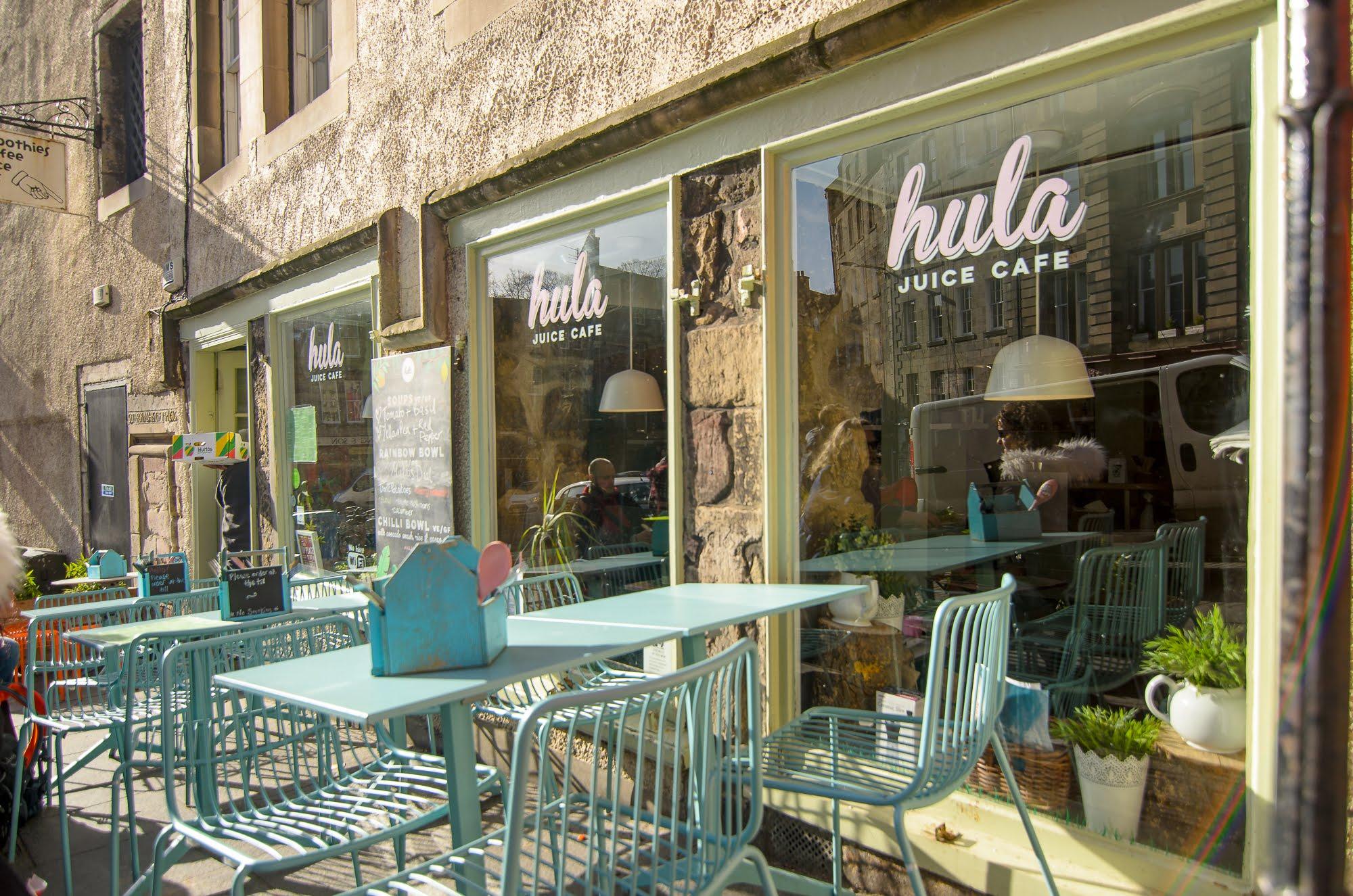 The outside of Hula Juice Cafe