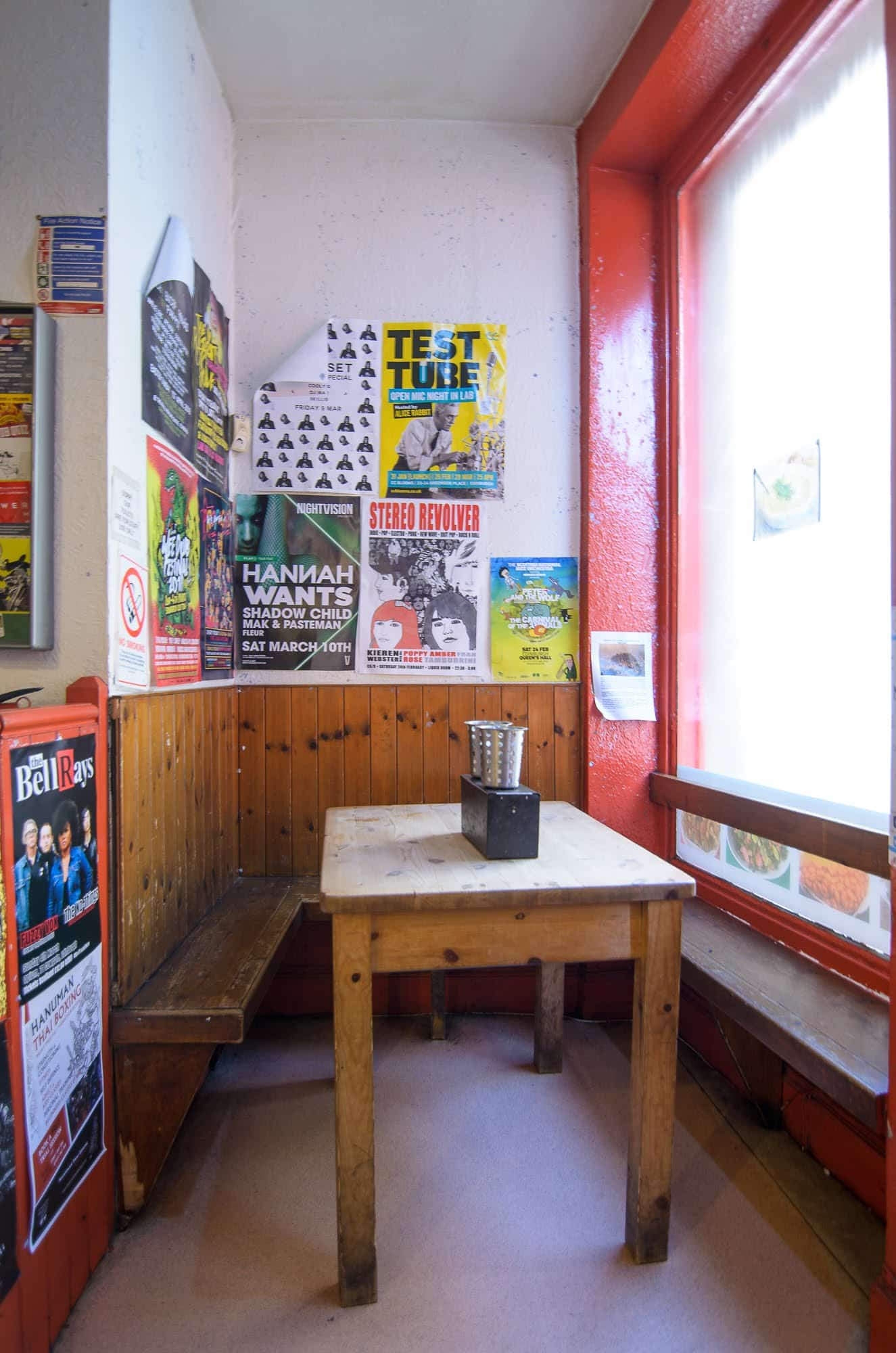 The Baked Potato Shop's only table
