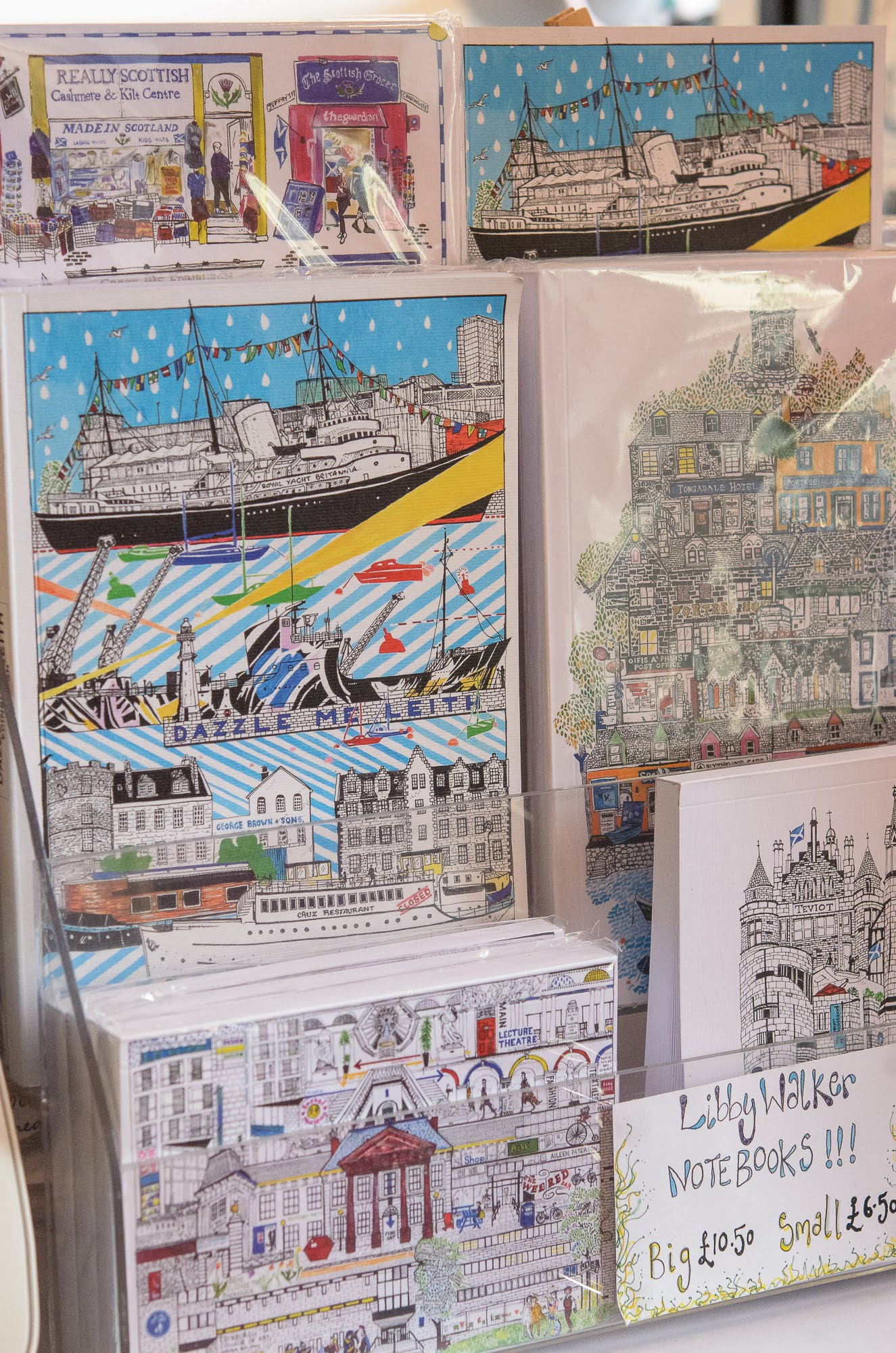 Red Door Gallery has notebooks with covers designed by local artists