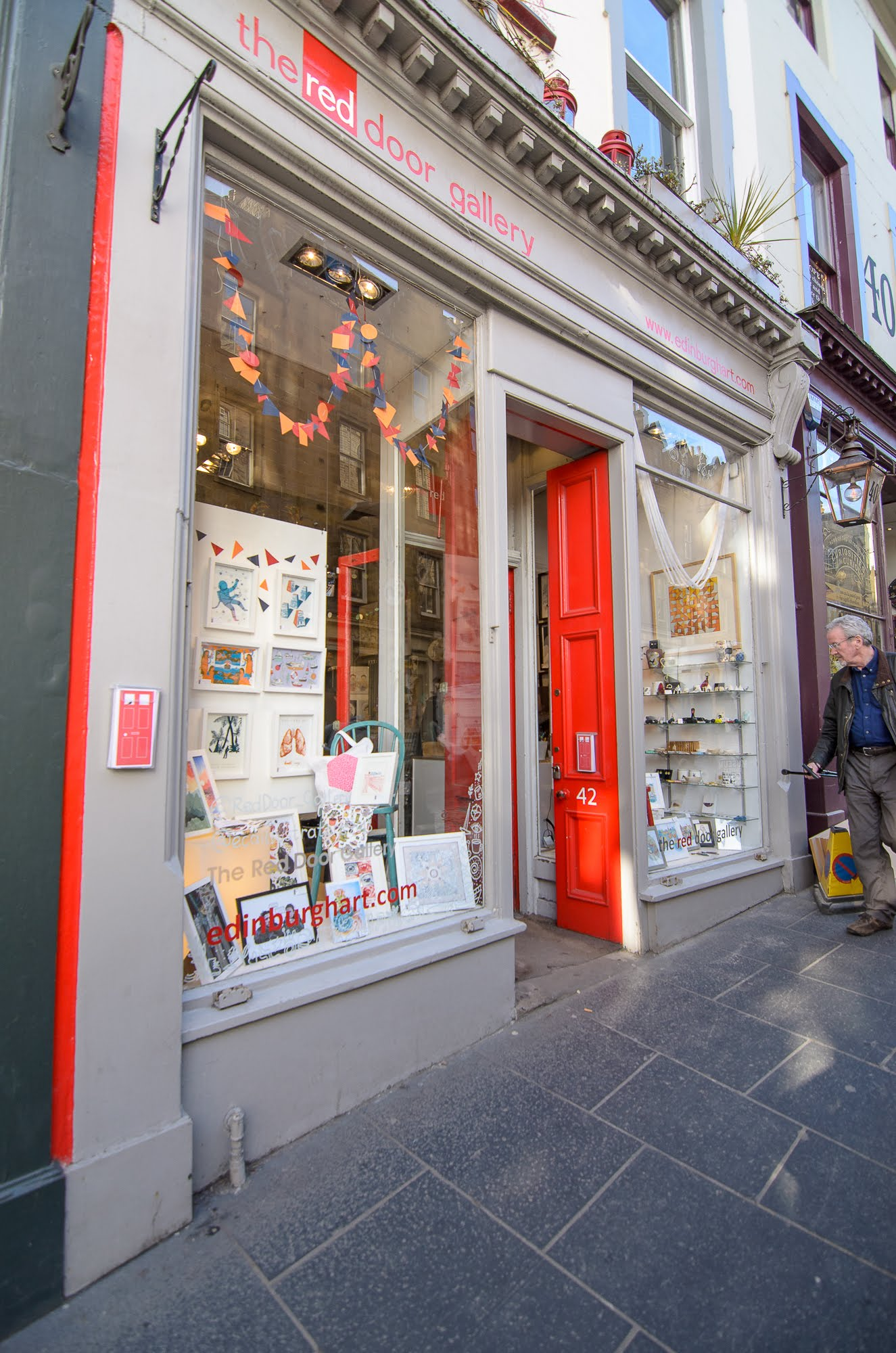 The Red Door Gallery's red door