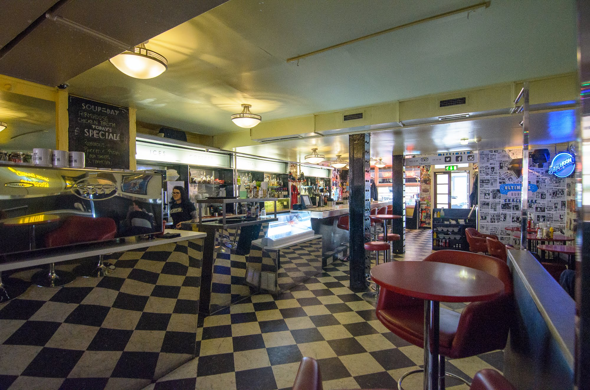 The City Cafe has an old school appeal