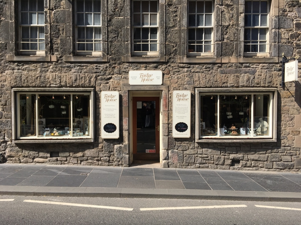 Fudge House in the Canongate.