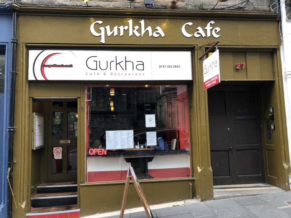 The Cockburn Street Nepalese and Indian restaurant Gurkha Cafe.