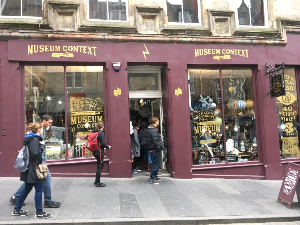 Museum Context on Cockburn Street sells Harry Potter and nostalgia gifts.