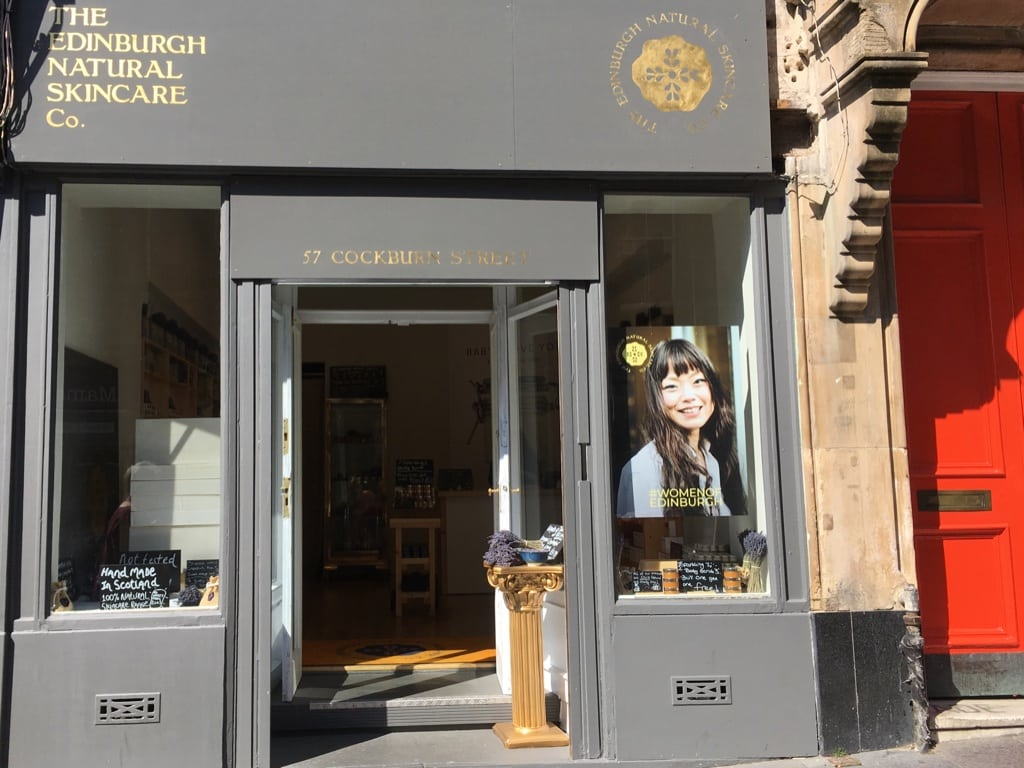 The Edinburgh Natural Skincare Co. sells handmade soaps in their small shop on Cockburn Street.